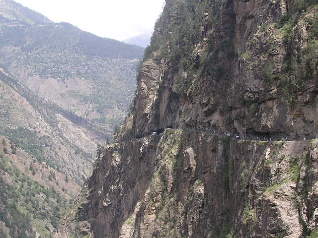 Scary Road at Sangla Valley