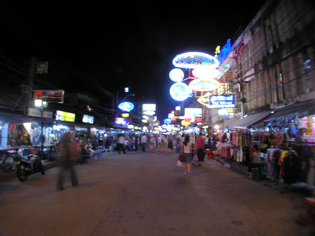 Khoa San Rd at Night